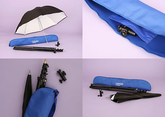 Kit parapluie Lastolite et son sac de transport