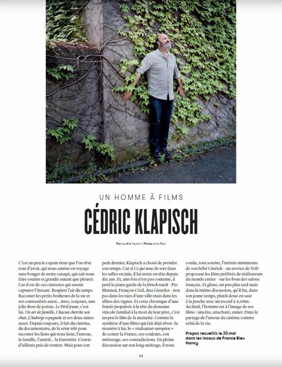 Cédric Klapisch :: portrait