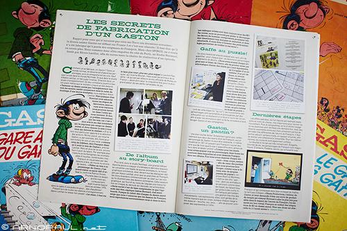 Reportage pour le magazine Spirou spécial Gaston Lagaffe